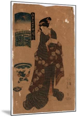 Ryogoku No Hanabi-Utagawa Toyokuni-Mounted Giclee Print