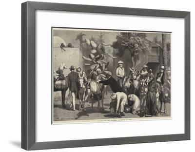 Starting for the Pyramids, a Sketch at Cairo-Valentine Walter Lewis Bromley-Framed Giclee Print