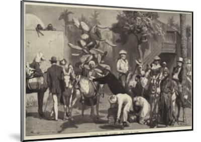 Starting for the Pyramids, a Sketch at Cairo-Valentine Walter Lewis Bromley-Mounted Giclee Print