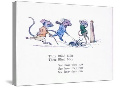 Three Blind Mice, Three Blind Mice, See How They Run-Walton Corbould-Stretched Canvas Print