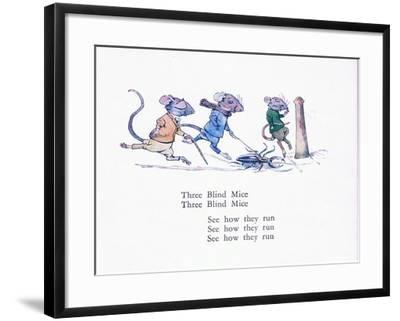 Three Blind Mice, Three Blind Mice, See How They Run-Walton Corbould-Framed Giclee Print