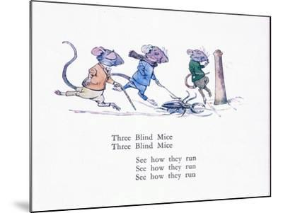 Three Blind Mice, Three Blind Mice, See How They Run-Walton Corbould-Mounted Giclee Print