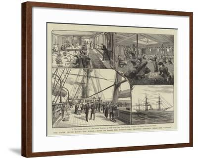 The Yacht Cruise Round the World- Warry-Framed Giclee Print