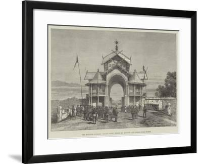 The Manipur Outrage, Palace Gates, Where Mr Quinton and Others Were Seized- Warry-Framed Giclee Print