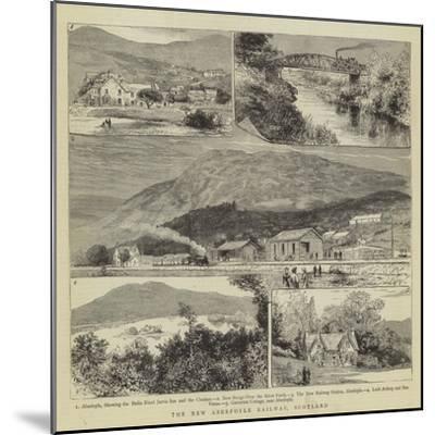 The New Aberfoyle Railway, Scotland- Warry-Mounted Giclee Print