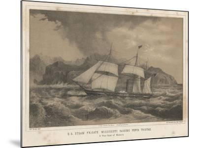 U.S. Steam Frigate Mississippi Passing Punta Tristao, 1855-Wilhelm Joseph Heine-Mounted Giclee Print
