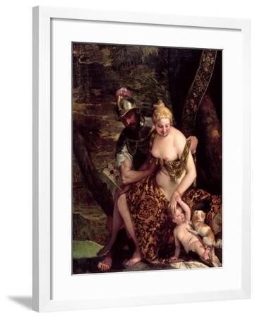 Venus, Cupid and Mars-Veronese-Framed Giclee Print