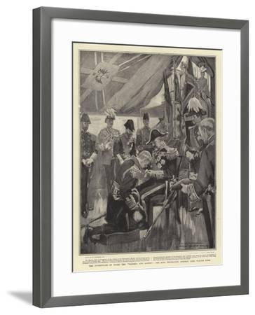 The Investiture on Board the Victoria and Albert, the King Decorating Admiral Lord Walter Kerr-William Hatherell-Framed Giclee Print