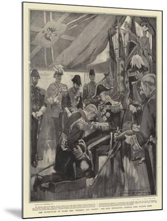 The Investiture on Board the Victoria and Albert, the King Decorating Admiral Lord Walter Kerr-William Hatherell-Mounted Giclee Print