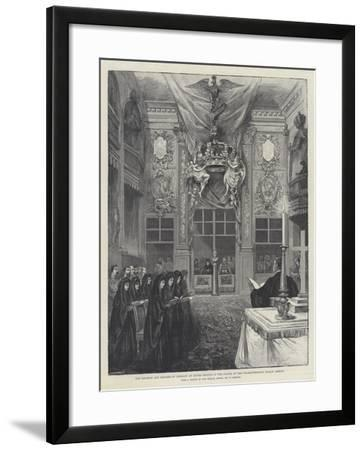 The Emperor and Empress of Germany at Divine Service in the Chapel of the Charlottenburg Palace-William 'Crimea' Simpson-Framed Giclee Print