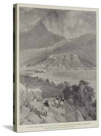 The Trouble in Crete-William 'Crimea' Simpson-Stretched Canvas Print