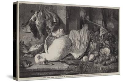 Dead Swan, Game, and Fruit-William Duffield-Stretched Canvas Print