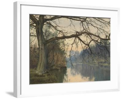 A Great Tree on a Riverbank, 1892 (Pencil, Pen and Black Ink and W/C on Paper)-William Fraser Garden-Framed Giclee Print