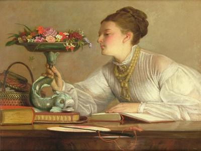 Flowers of the Day-William Frederick Yeames-Framed Giclee Print