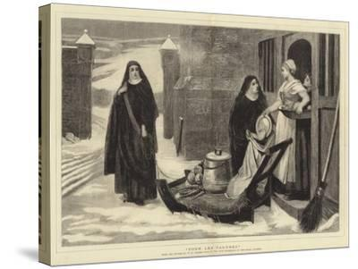 Pour Les Pauvres-William Frederick Yeames-Stretched Canvas Print