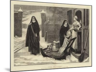 Pour Les Pauvres-William Frederick Yeames-Mounted Giclee Print