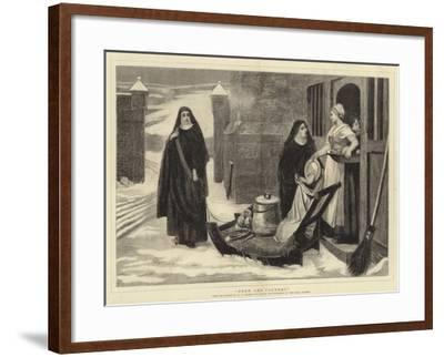 Pour Les Pauvres-William Frederick Yeames-Framed Giclee Print