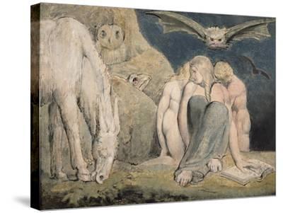 The Night of Enitharmon's Joy, C.1795-William Blake-Stretched Canvas Print