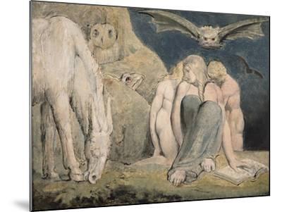 The Night of Enitharmon's Joy, C.1795-William Blake-Mounted Giclee Print