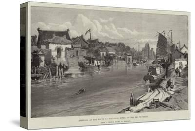 Tientsin, at the Mouth of the Peiho River, on the Way to Pekin-William 'Crimea' Simpson-Stretched Canvas Print