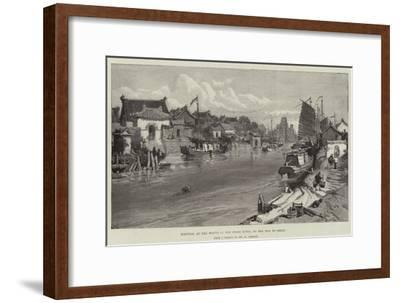 Tientsin, at the Mouth of the Peiho River, on the Way to Pekin-William 'Crimea' Simpson-Framed Giclee Print