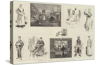 Hospital Life, Sketches at the London Hospital, Whitechapel-William Douglas Almond-Stretched Canvas Print