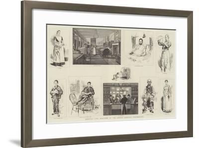Hospital Life, Sketches at the London Hospital, Whitechapel-William Douglas Almond-Framed Giclee Print