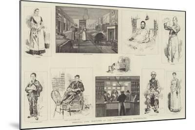 Hospital Life, Sketches at the London Hospital, Whitechapel-William Douglas Almond-Mounted Giclee Print