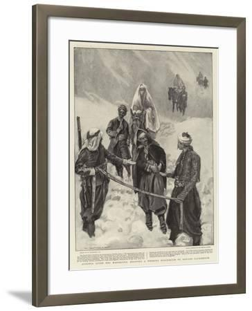 Armenia after the Massacres, Stopping a Wedding Procession to Demand Backsheesh-William Hatherell-Framed Giclee Print