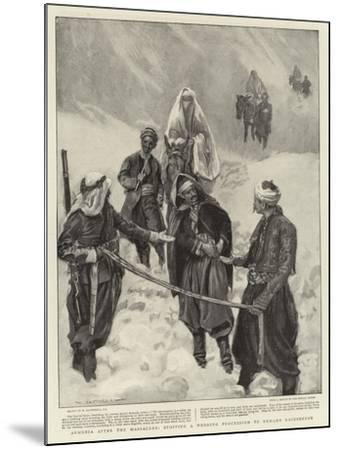 Armenia after the Massacres, Stopping a Wedding Procession to Demand Backsheesh-William Hatherell-Mounted Giclee Print