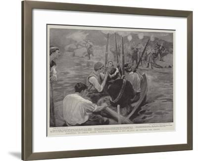 Farewell to Crete, Greek Volunteers Firing a Feu De Joie on Leaving the Island-William Hatherell-Framed Giclee Print
