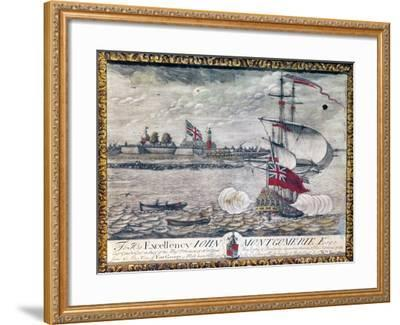 To His Excellency John Montgomerie Esq. (View of Fort George)-William Burgis-Framed Giclee Print