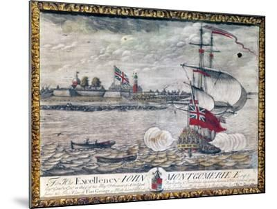 To His Excellency John Montgomerie Esq. (View of Fort George)-William Burgis-Mounted Giclee Print