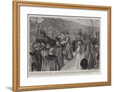 The Queen in Dublin, the Lord Mayor Presenting the Civic Sword to Her Majesty-William Hatherell-Framed Giclee Print
