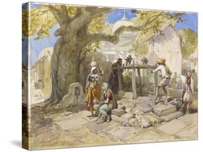 The Village Well, 1864-William 'Crimea' Simpson-Stretched Canvas Print