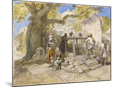 The Village Well, 1864-William 'Crimea' Simpson-Mounted Giclee Print