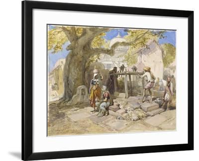 The Village Well, 1864-William 'Crimea' Simpson-Framed Giclee Print