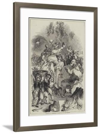 Bringing in Christmas-William Harvey-Framed Giclee Print