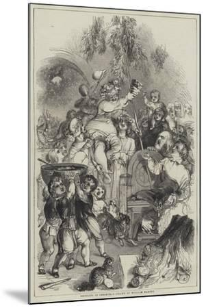 Bringing in Christmas-William Harvey-Mounted Giclee Print
