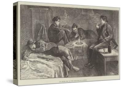 An Opium Den at the East End of London-William Douglas Almond-Stretched Canvas Print