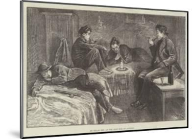An Opium Den at the East End of London-William Douglas Almond-Mounted Giclee Print
