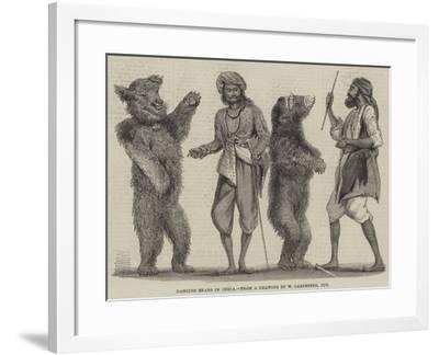 Dancing Bears in India-William Carpenter-Framed Giclee Print