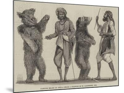 Dancing Bears in India-William Carpenter-Mounted Giclee Print