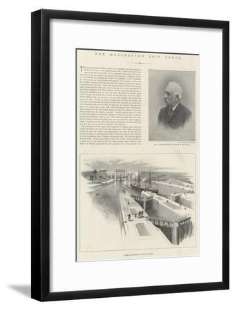 The Manchester Ship Canal-William 'Crimea' Simpson-Framed Giclee Print