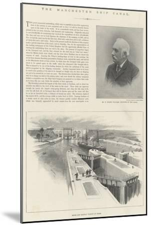 The Manchester Ship Canal-William 'Crimea' Simpson-Mounted Giclee Print