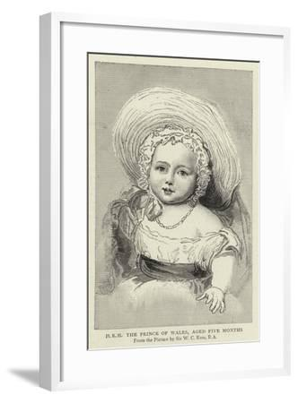 H R H the Prince of Wales, Aged Five Months-William Charles Ross-Framed Giclee Print