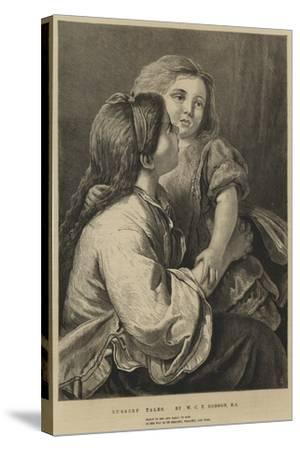 Nursery Tales-William Charles Thomas Dobson-Stretched Canvas Print