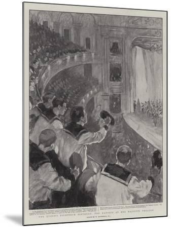 The Queen's Eightieth Birthday, the Matinee at Her Majesty's Theatre-William Hatherell-Mounted Giclee Print