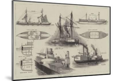 HMS Inflexible-William Edward Atkins-Mounted Giclee Print