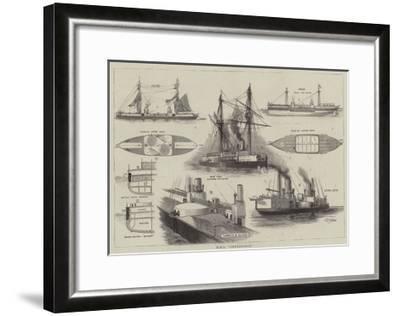 HMS Inflexible-William Edward Atkins-Framed Giclee Print